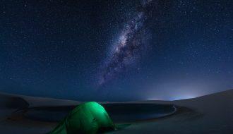 Via Láctea nos Lençóis Maranhenses - Foto Bruno Nogaki